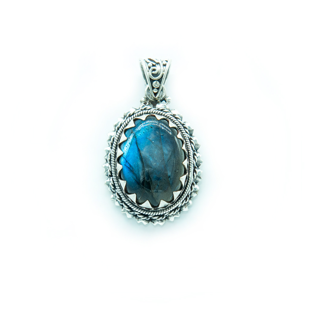 products woven handmade copper pendant labradorite by blue oxidized wire large